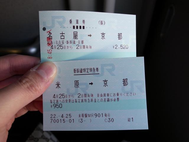 米原→京都
