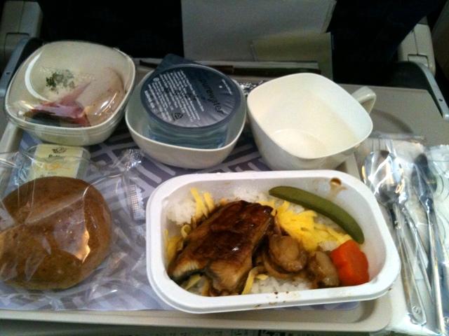 大韓航空 往路機内食