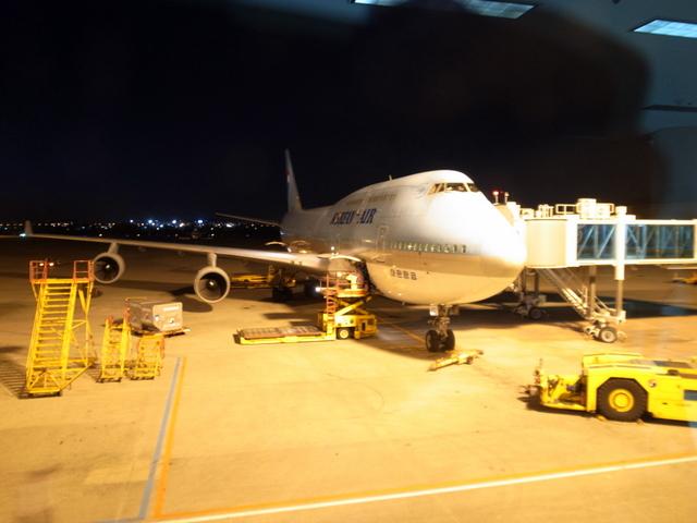 大韓航空 復路搭乗機