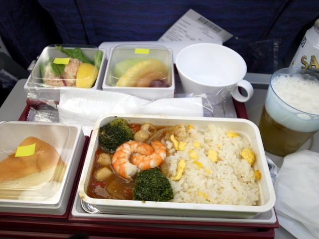 チャイナエアライン 往路機内食