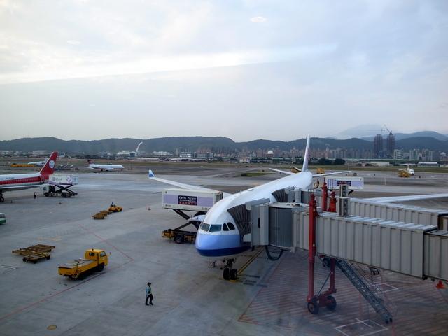 チャイナエアライン 搭乗機(松山)