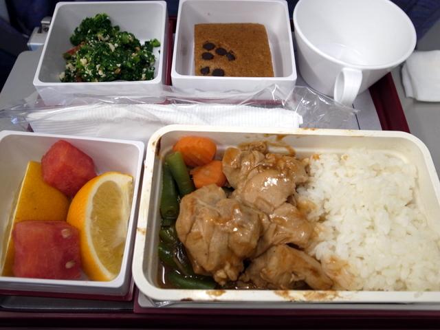 中華航空 帰路機内食