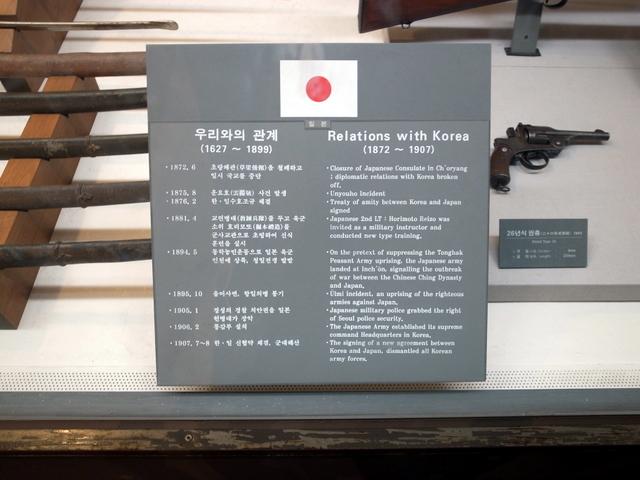 戦争記念館 日本展示