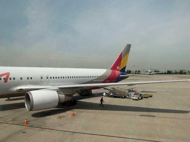 アシアナ航空往路搭乗機