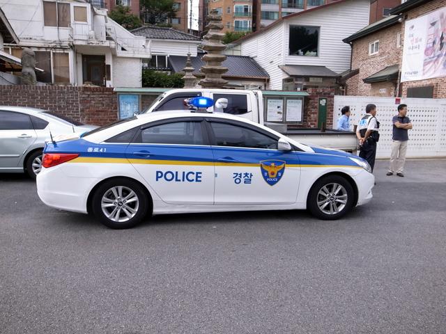 韓国のパトカー