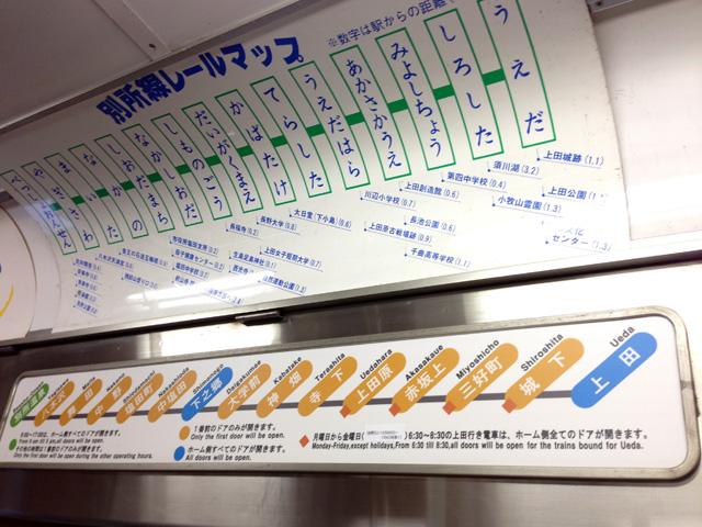 上田鉄道別所線路線図
